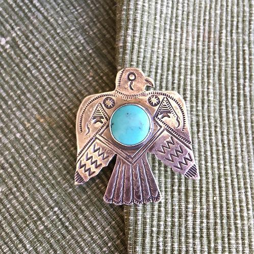 Old Trading Post: Thunderbird+Stone Pin or Pendant