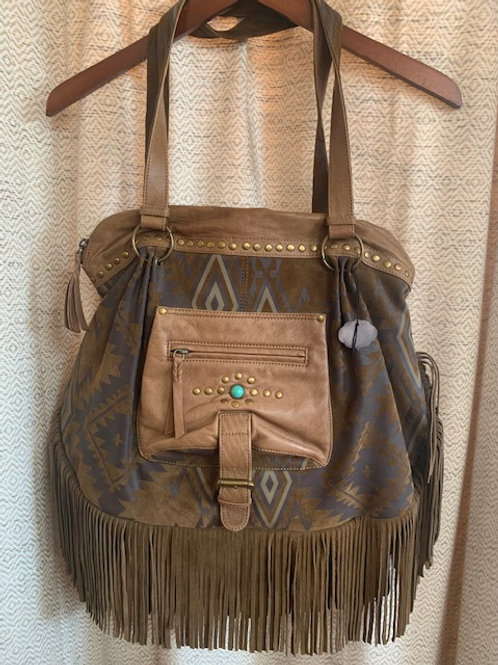 Tasha Polizzi Collection Oversized Leather Fringe Purse