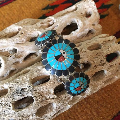 Three Zuni Sun Gods Bracelet