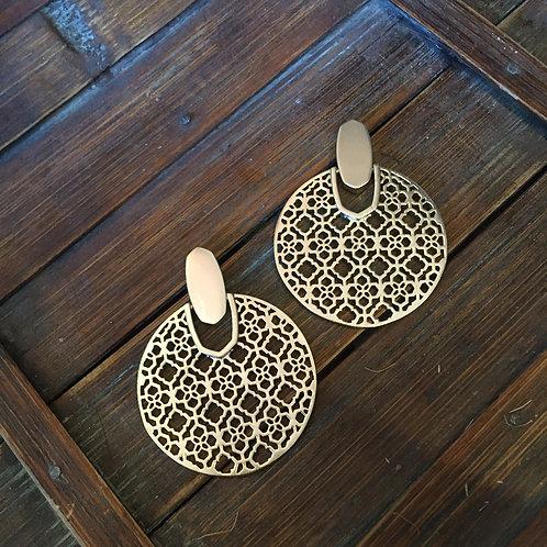 Kendra Scott Logo Lattice Earrings