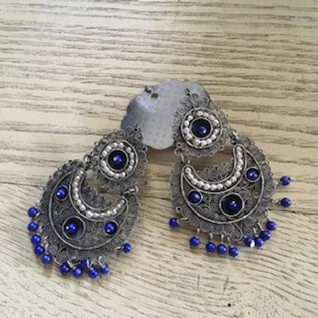 VintageOaxacan Silver Filigree Earring