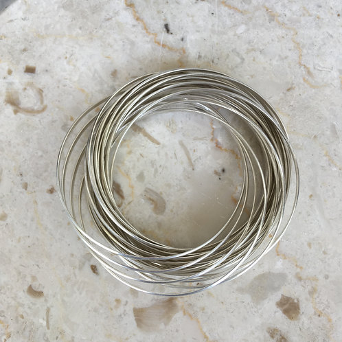 Silver Intertwined Band Bracelet