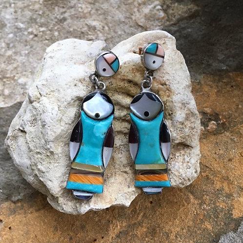 Navajo Kachina Doll Earrings