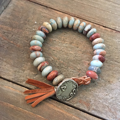 Willow Creek Stone+Leather Bracelet