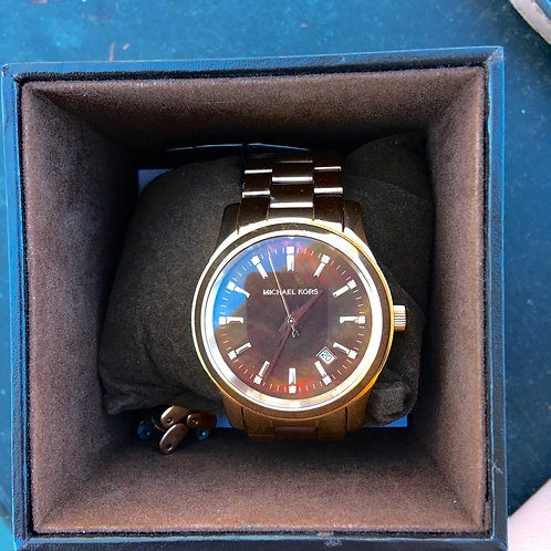 Michael Kors Bronze Metal Link Watch
