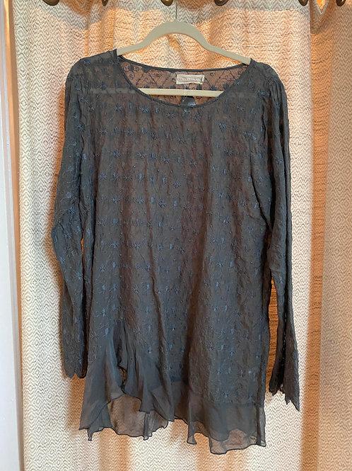 Love and LibertySlate Blue Sheer Silk Tunic