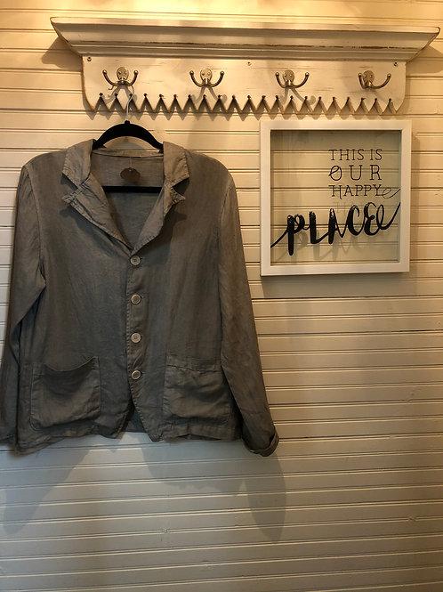 CP SHADES: Olive Green Linen Blazer
