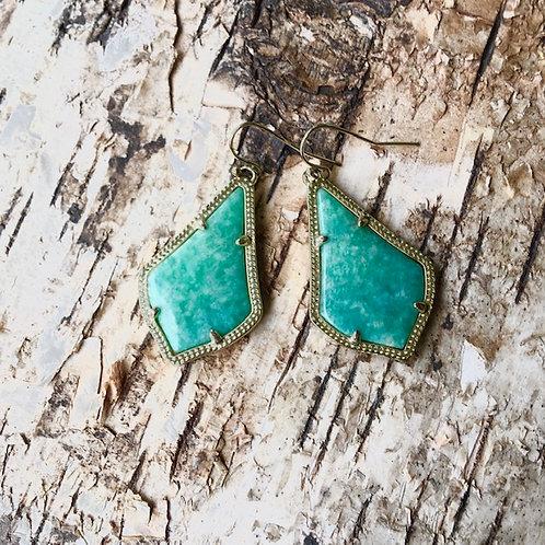 Kendra Scott: Amazonite Earrings