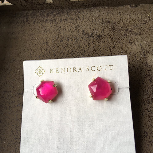 Kendra Scott Faceted Hot Pink Stones