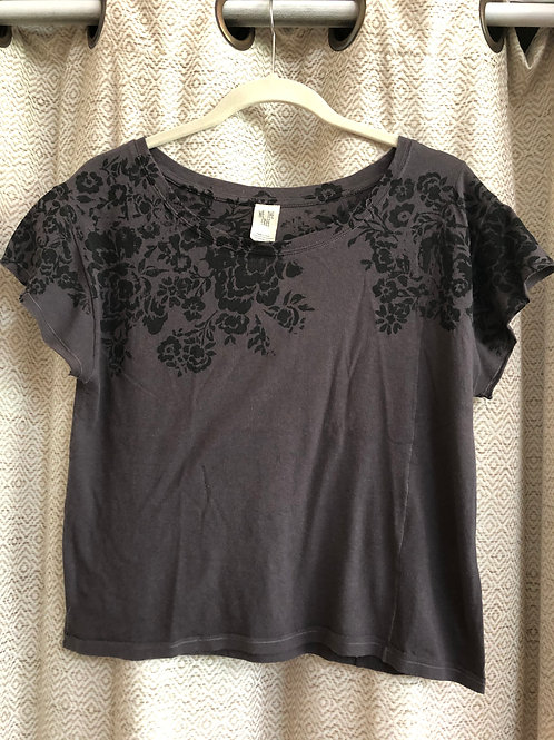 Free People Charcoal Grey Top
