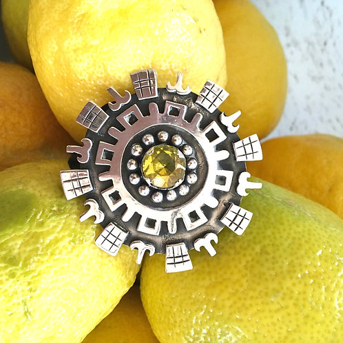 Citrine + Sterling Pendant or Pin