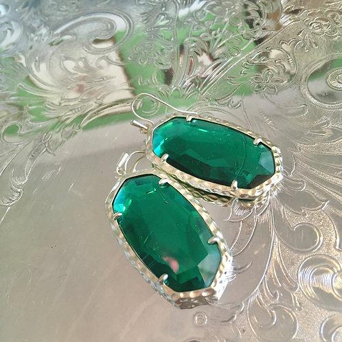 Kendra Scott Green Crystal Earrings