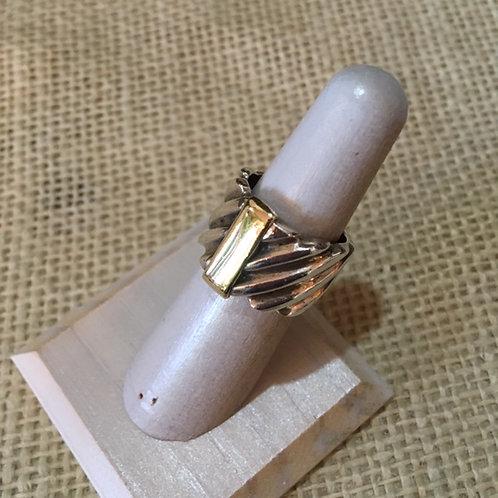 Rigoberto Sterling Silver+14k Gold Ring