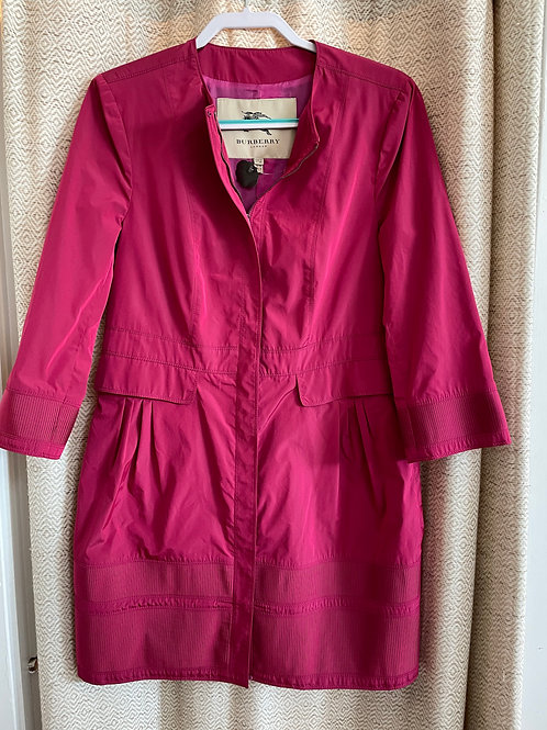 Burberry Hot Pink Rain Jacket
