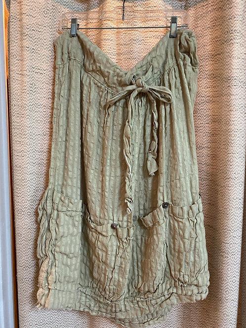 Magnolia Pearl Celery Seersucker Skirt