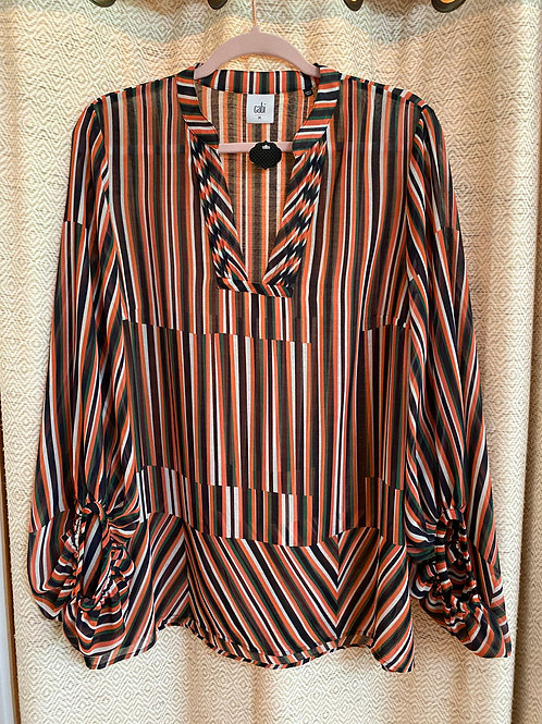 Cabi Cotton Gauze Striped Blouse
