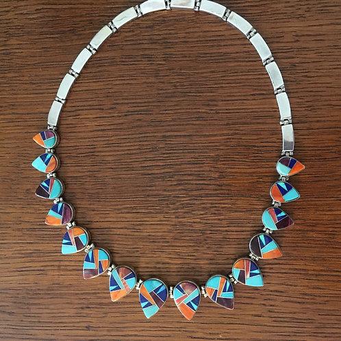 Necklace by Navajo artist Calvin Begay