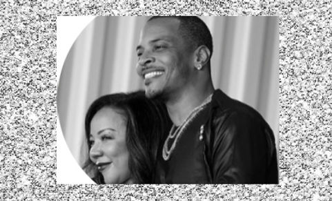 Rapper T.I. and his wife Tameka picture-