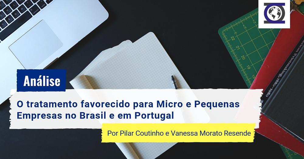 Micro e Pequenas Empresas no Brasil e em Portugal