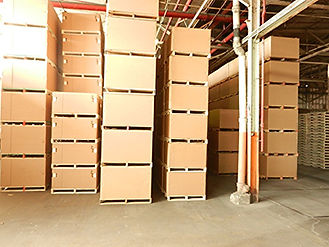 wooden pallets, corrugated boxes, combination packs