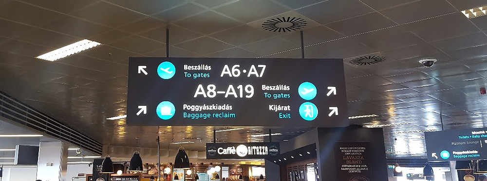 Gate location at Budapest airport is a bit confusing