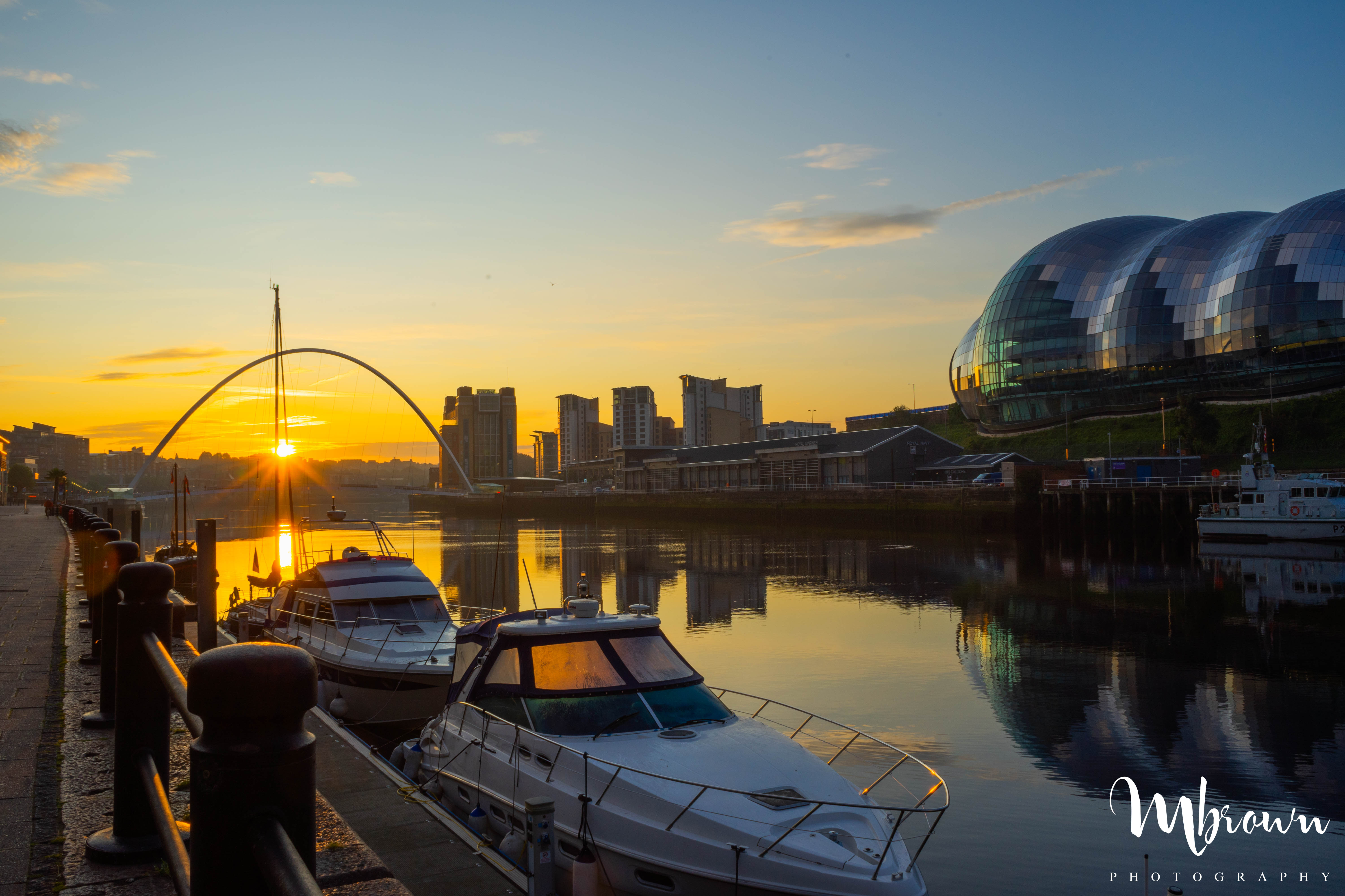Newcastle Quayside at Dawn