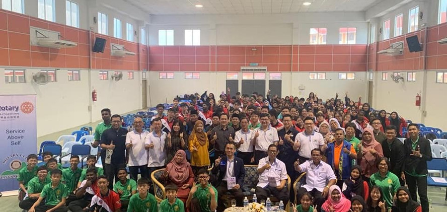 career talk in SMK ledang, tangkak,April