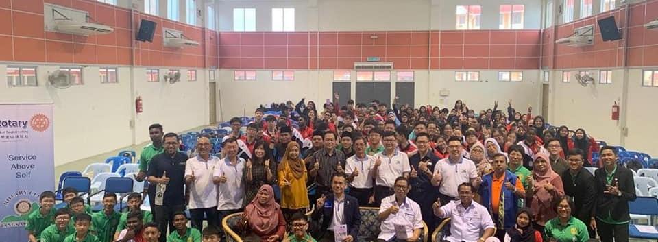 career talk in SMK ledang, tangkak,April