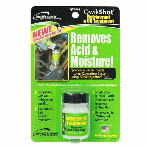 Qwik Shot Refrigerant & Oil Treatment - 1/2 oz Bottle-Removes Acid / Moisture