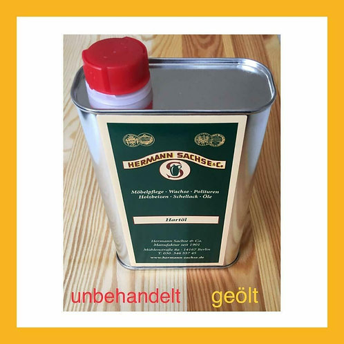 Wood oil, colourless hard oil for indoors, 500 ml natural furniture care oil