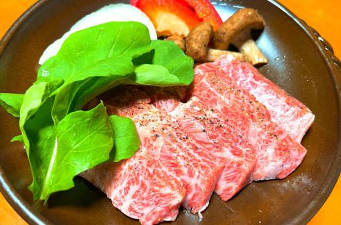 信州プレミアム牛のステーキ
