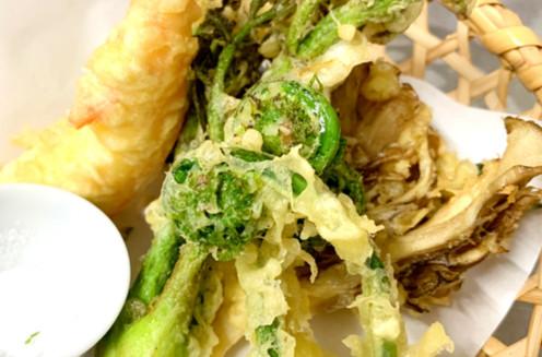 季節の食材の天ぷら