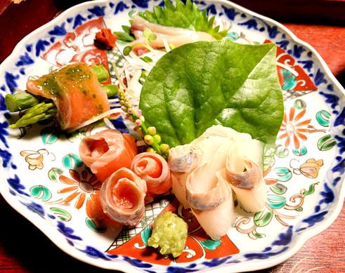 信州の川魚お刺身盛合わせ