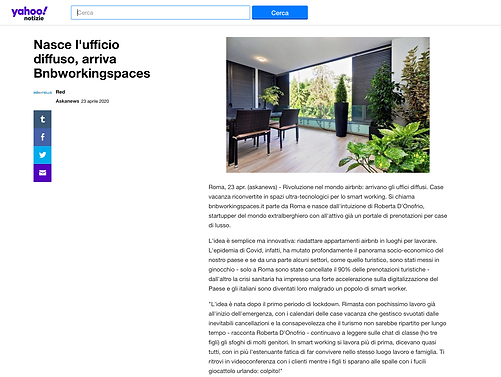 Nasce l'ufficio diffuso, arriva Bnbworkingspaces