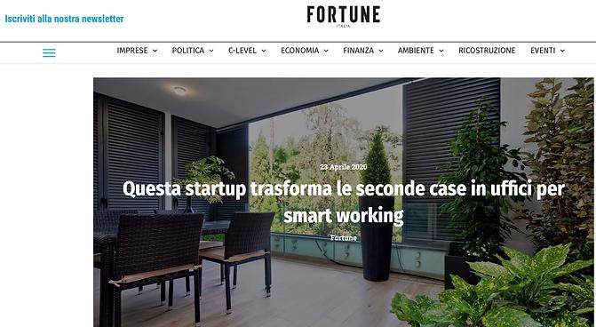 Questa startup trasforma le seconde case in uffici per smart working