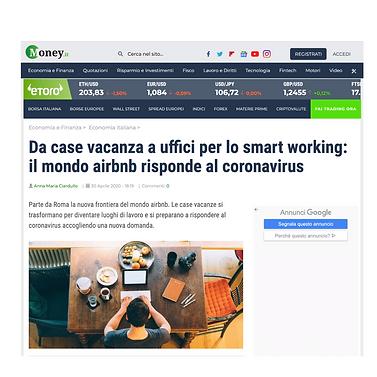 Da case vacanza a uffici per lo smart working: il mondo airbnb risponde al coronavirus