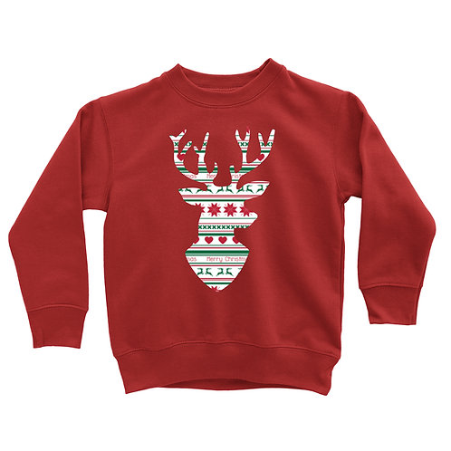 Ugly Sweater Deer head Sweatshirt