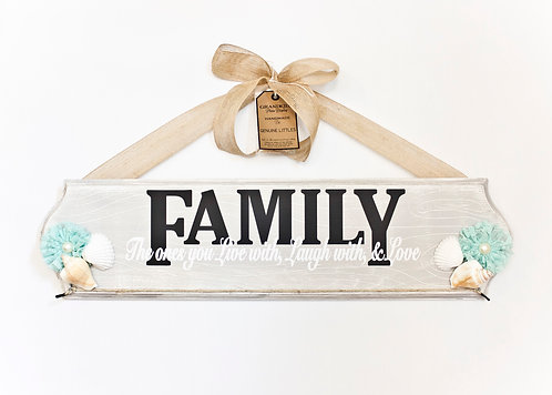 Family Photo Wood Sign
