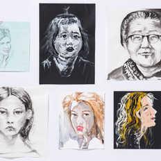 Drawing of women