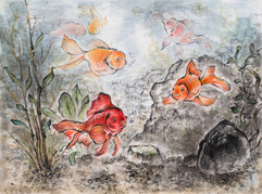 Goldfish in a fish tank