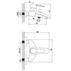 Смеситель для ванны ATLANTISS – LM3202C