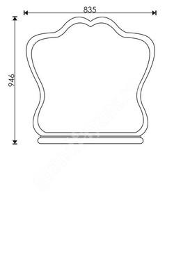 чертеж зеркало для ванной комнаты leon 8