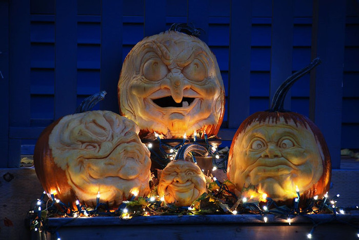 Taking 3D to another level! Check out these eye catching pumpkins carved by Kerosene's very own