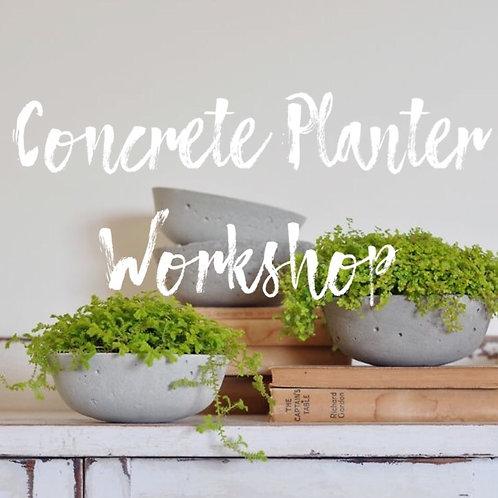 Concrete Planter Workshop - Jan. 26th