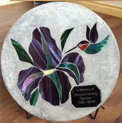 Iris + Hummingbird with Engraving
