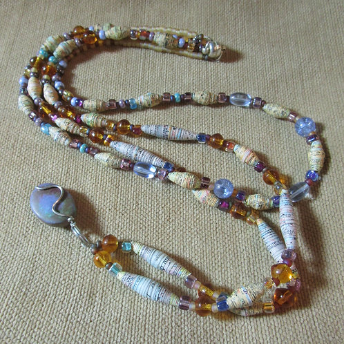 """""""Sunset Grapevine"""" Map Necklace & Earring Set"""