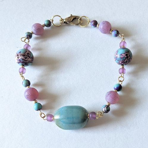 """""""Tropical Orchid"""" bracelet"""