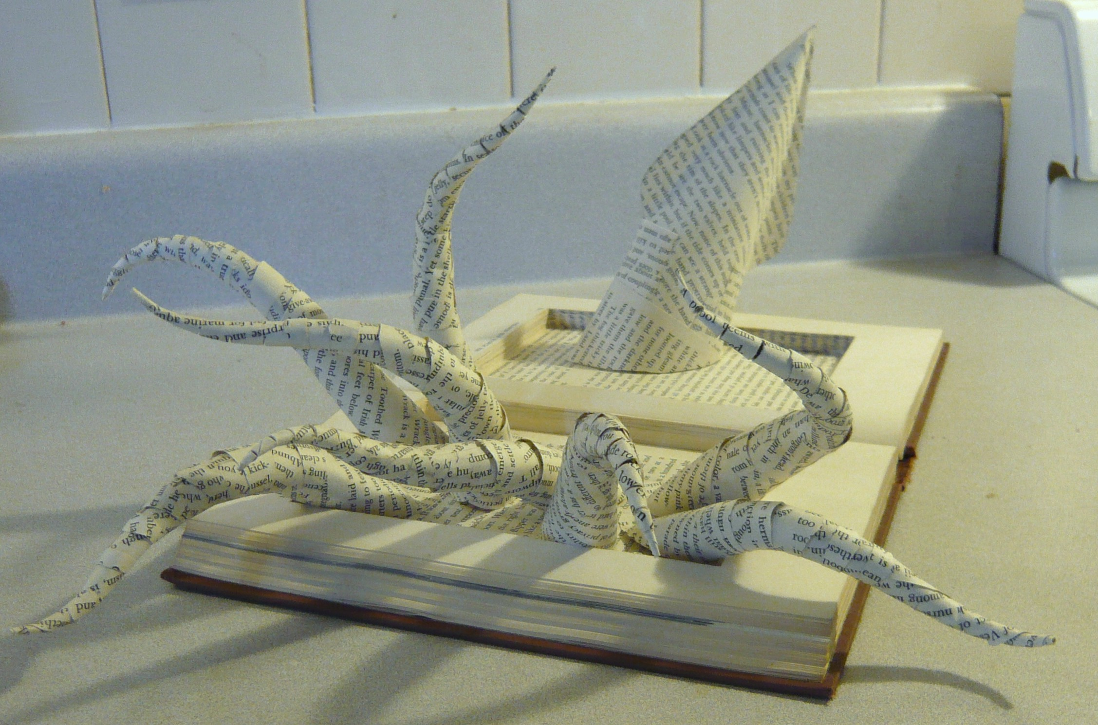 """The Living Tide"" book sculpture"