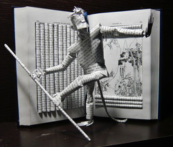 """""""Journey to the West"""" book sculpture"""