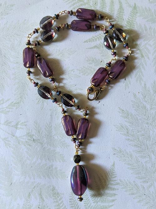 """""""Antique Mauve"""" necklace"""